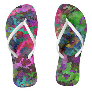 [Rainbow Mosaic] Stained-Glass Effect Thongs