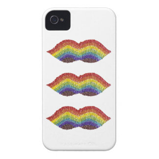 Rainbow Moustache I-Phone 4 Case