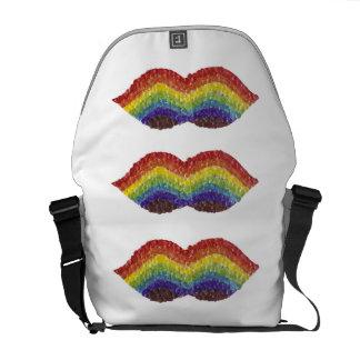 Rainbow Moustache Rusksack Commuter Bags
