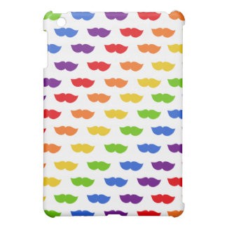 Rainbow Moustaches iPad Mini Covers