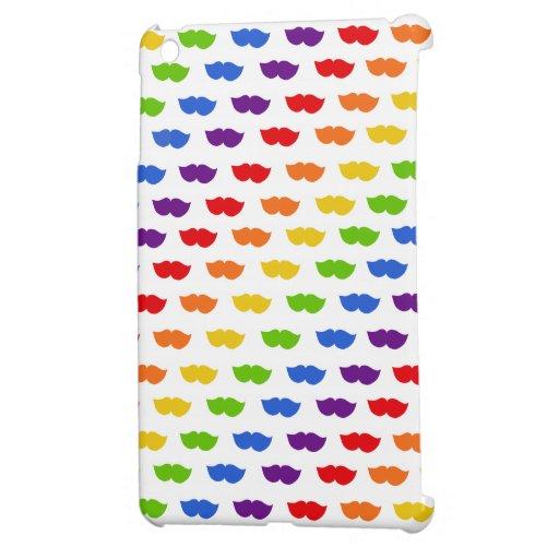 Rainbow Moustaches iPad Mini Cases