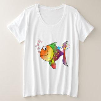 Rainbow multi color pacific ocean tuna plus size T-Shirt