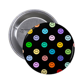 Rainbow Multicolor Smiley Face Pattern 6 Cm Round Badge