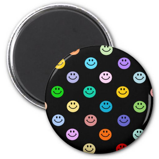 Rainbow Multicolor Smiley Face Pattern Refrigerator Magnet