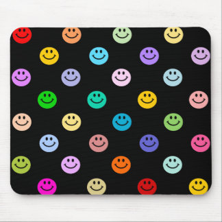 Rainbow Multicolor Smiley Face Pattern Mouse Pad