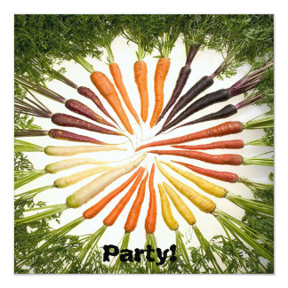 Rainbow Multicolored Carrots Card
