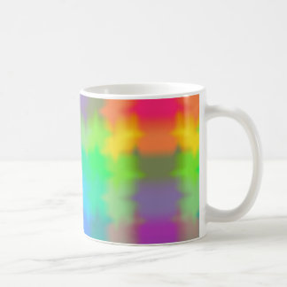 Rainbow Multicolored Watercolor Abstract Tie Dye Coffee Mug