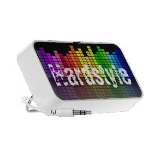 Rainbow Music Equalizer with custom Text iPod Speaker