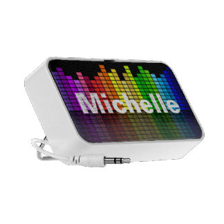 Rainbow Music Equalizer with your custom Text Notebook Speakers