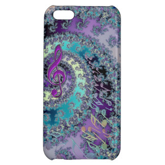 Rainbow Music Notes Fractal Swirl for iPhone 5 iPhone 5C Case