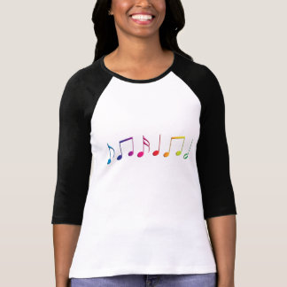 Rainbow Music Notes T-Shirt