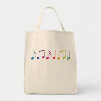 Rainbow Music Notes Canvas Bag