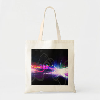 Rainbow Musical Wave Form Budget Tote Bag