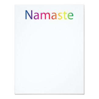 Rainbow Namaste Flat Note Cards
