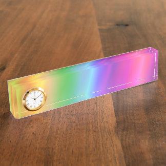 Rainbow Nameplate