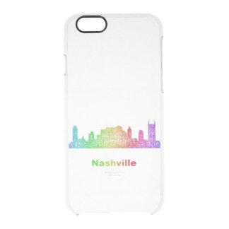 Rainbow Nashville skyline Clear iPhone 6/6S Case