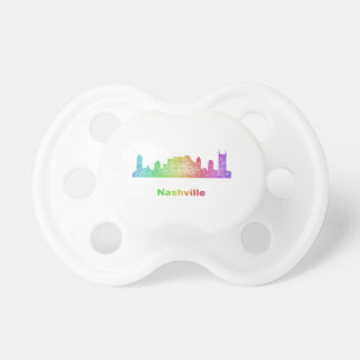 Rainbow Nashville skyline Pacifier
