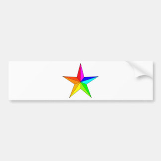 Rainbow Nautical Star Bumper Sticker