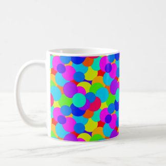 Rainbow Neon Bright Colors Circles Bubbles Teen Coffee Mug