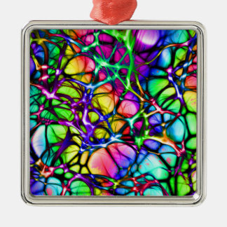 Rainbow Network Metal Ornament