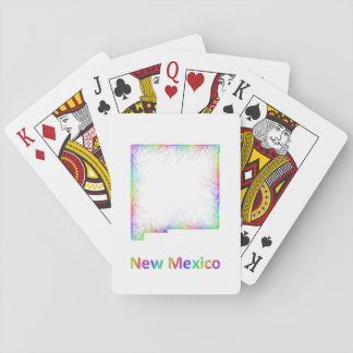 Rainbow New Mexico map Playing Cards