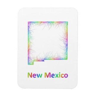Rainbow New Mexico map Rectangular Photo Magnet