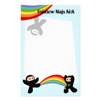 Rainbow Ninja Kick Stationery Design