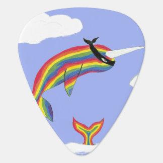Rainbow Ninja Narwhal That Flies Plectrum