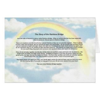 Rainbow Notecard with The Rainbow Bridge