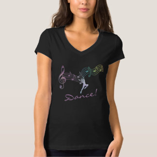 Rainbow Notes Dance for Joy T-Shirt