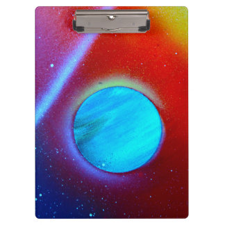 rainbow nova two blue green planets spraypaint clipboards