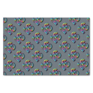 Rainbow Number Sixteen Sweet 16 16th Anniversary Tissue Paper