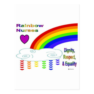 Rainbow Nurses Postcard