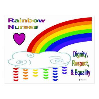 Rainbow Nurses Post Card