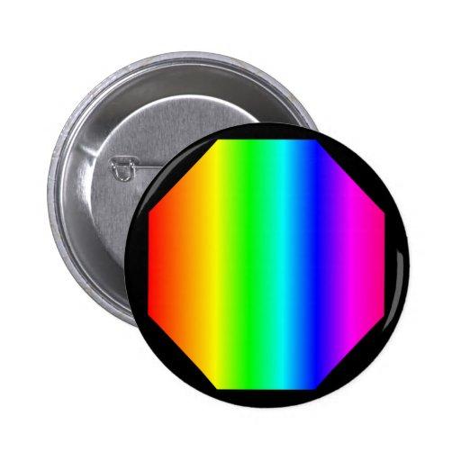 Rainbow Octagon Button
