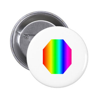 Rainbow Octagon Pinback Buttons