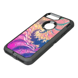 Rainbow Octopus Tentacles in a Fractal Spiral OtterBox Defender iPhone 8 Plus/7 Plus Case