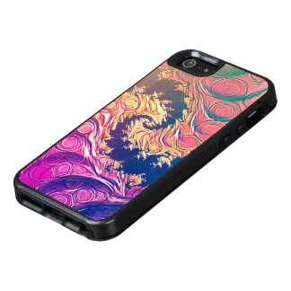 Rainbow Octopus Tentacles in a Fractal Spiral OtterBox iPhone 5/5s/SE Case