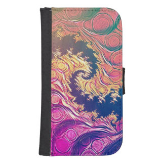 Rainbow Octopus Tentacles in a Fractal Spiral Samsung S4 Wallet Case