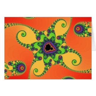 Rainbow Octopuses Greetings Card