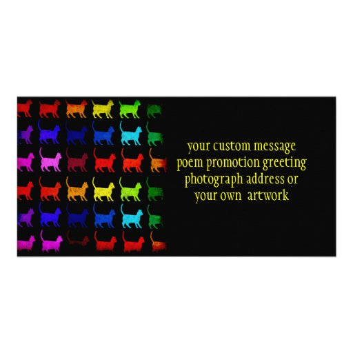 Rainbow Of Cats Photo Card Template