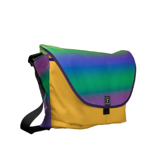Rainbow of Colors Rickshaw Messenger Bag