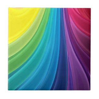 Rainbow of Colour Ceramic Tile Back Splash