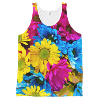 Rainbow of Daisies All-Over Print Tank Top