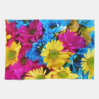 Rainbow of Daisies Hand Towel