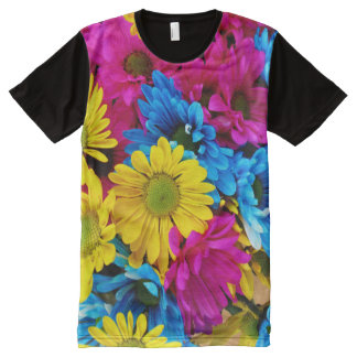 Rainbow of Daisies All-Over Print T-Shirt