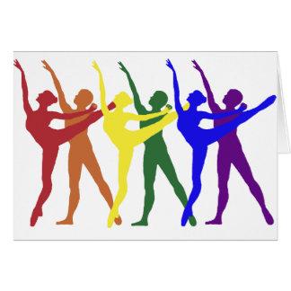 Rainbow of Dancers Greeting Card