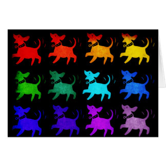 Rainbow Of Dogs Cards