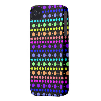Rainbow of Dots Blackberry Bold case