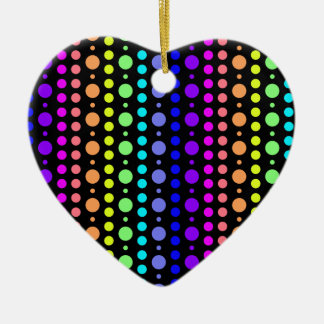 Rainbow of Dots ornament, customize Ceramic Heart Decoration
